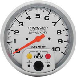 Auto Meter Pro-Comp Single Range Tachometer w/memory