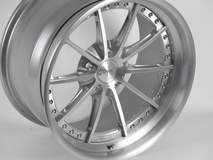 Forgeline GT3C Concave Wheel in Brushed & High-Gloss Clear Coat Finish
