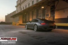 Wheel Experts 997 Porsche 911 Turbo on Forgeline One Piece Forged Monoblock GT1 Wheels