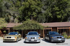 BMWs at the Big Sur River Inn