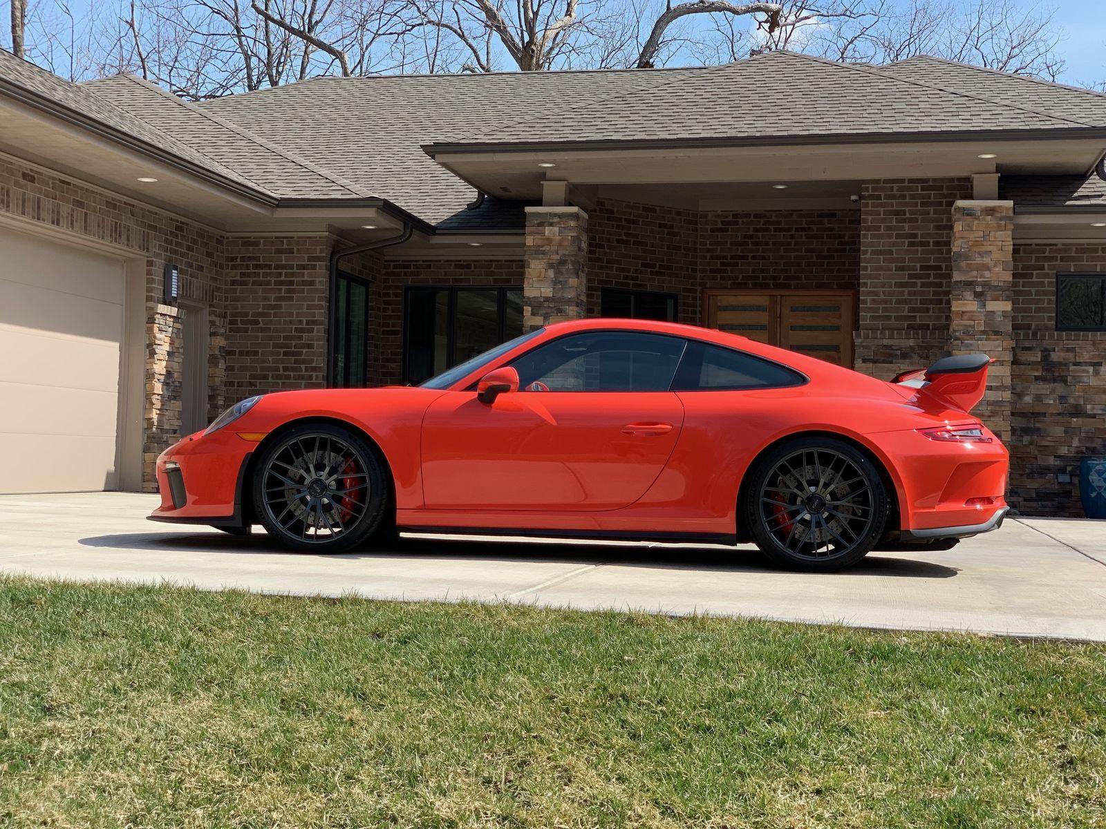 2018 Porsche 911   Alan Coleman's Lava Orange Porsche 991 GT3 on Forgeline One Piece Forged Monoblock ZH1 Wheels