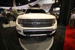 White Ford Raptor with Rigid Industries LED Lights