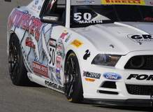 Dean Martin's #50 GTS Class Ford Mustang Boss 302S on Forgeline One Piece Forged Monoblock GS1R Wheels