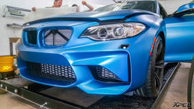 XPEL Austin protected this entire BMW M2 with XPEL STEALTH satin-finish clear bra