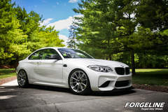 Taylor McGohan's BMW M2 on Forgeline One Piece Forged Monoblock GTD1 5-Lug Wheels