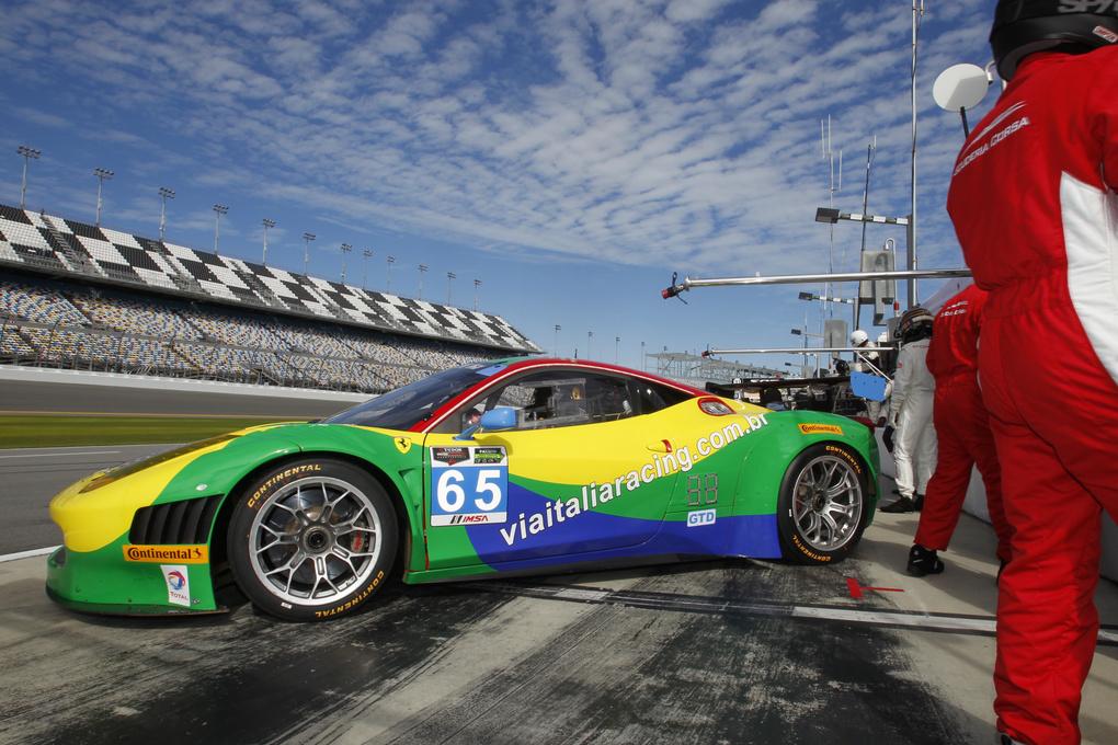 Ferrari  | A Ferrari rolling on Continental Tires at the 2014 Rolex 24.