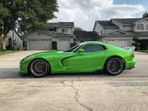 Ryan Frankenfield's Stryker Green Dodge Viper GTS on Forgeline Rebel 6-Lug Wheels