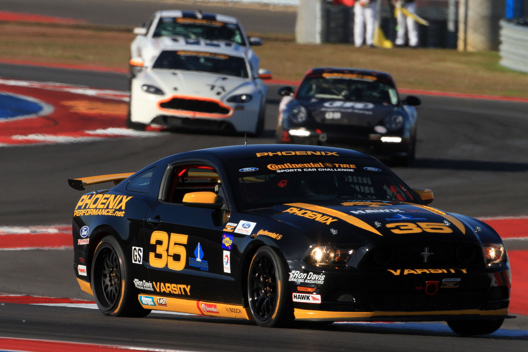 | Easing their way through the esses at COTA