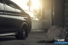 """BMW 535i on 20"""" XO Luxury Milan Wheels - Driver Side Rear Wheel"""