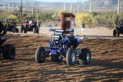 Three Rigid Industries light bars on this ATV!