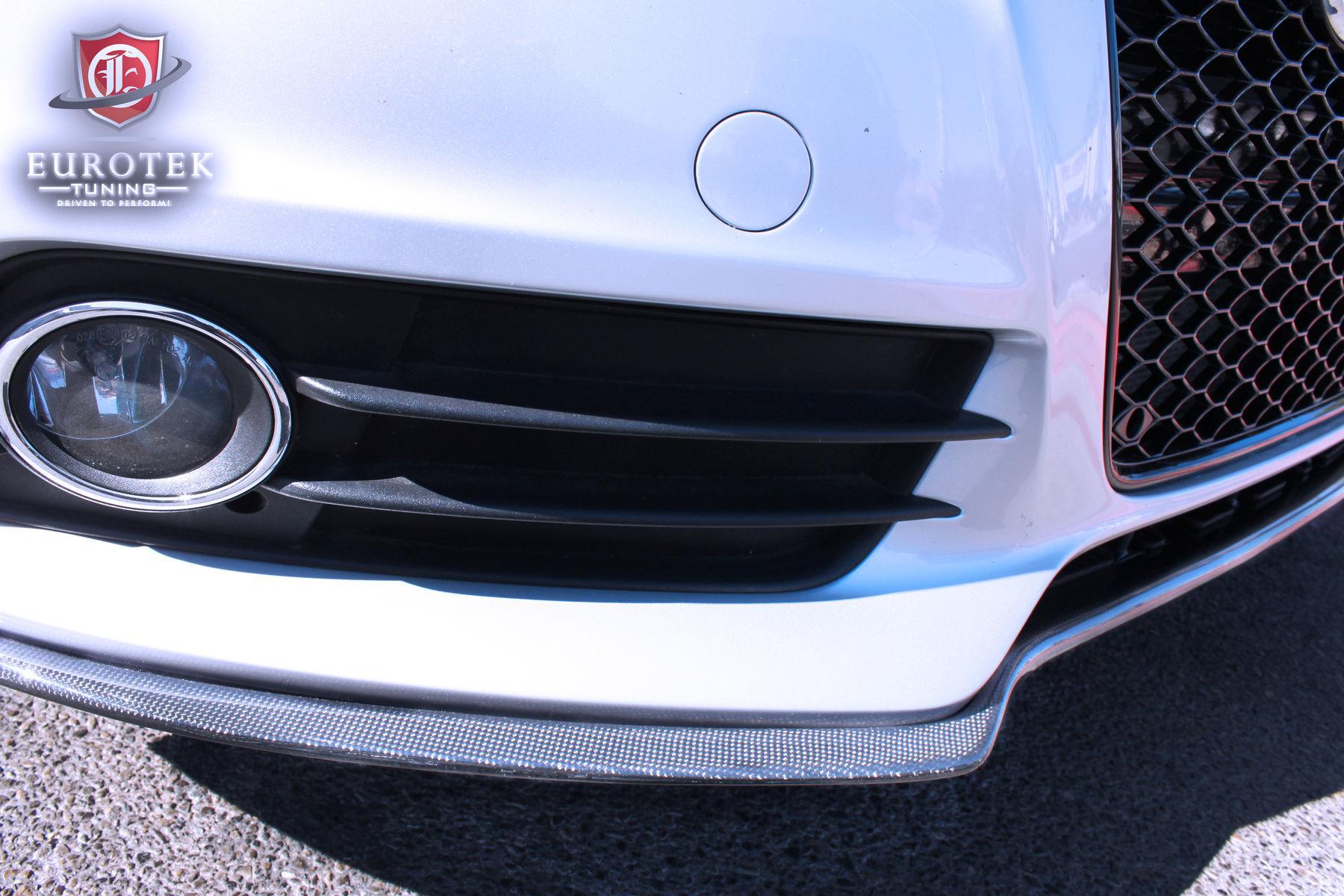 2011 Audi S4 | EuroGEAR Audi B8 A4 S line & S4 Carbon Fiber Splitter (front)