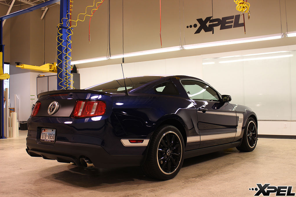 Ford Mustang   Ford with XPEL ULTIMATE self-healing clear bra