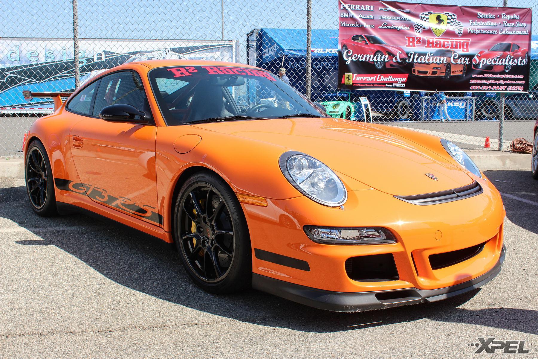 Porsche 911 | Great orange Porsche GT3
