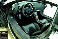 Beautiful interior shot of the McLaren