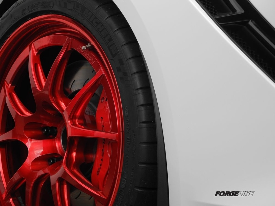 2014 Chevrolet Corvette Stingray | Forgeline GA3R in Transparent Red on our project C7 Corvette