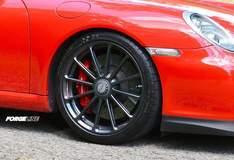 Forgeline One Piece Forged Monoblock GT1 Centerlock on Alan Coleman's Porsche GT3