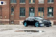 Black Nissan Maxima - Headlights