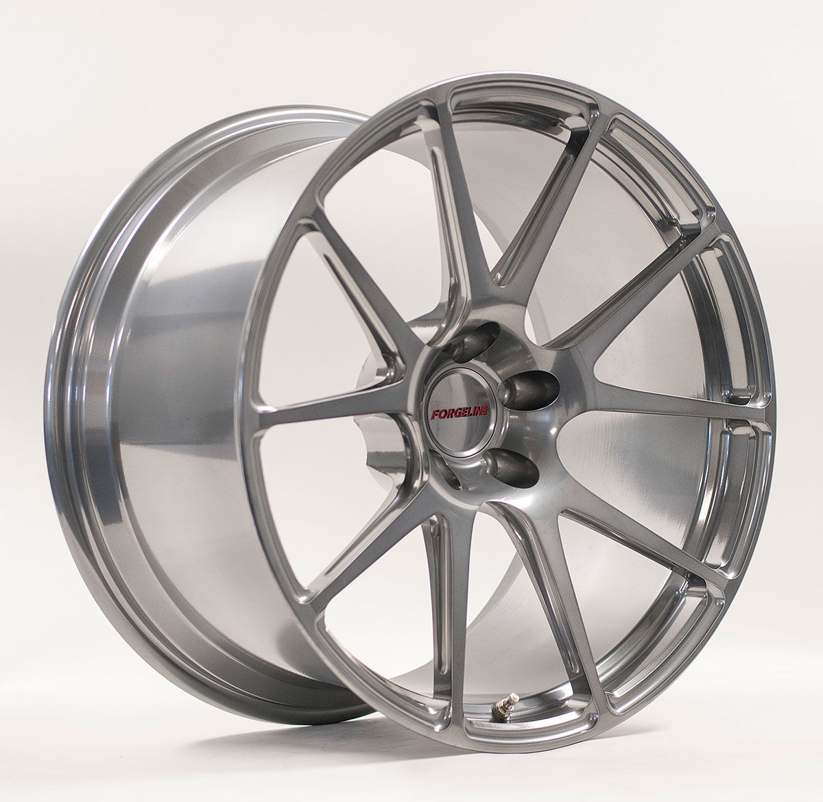 | Forgeline One PIece Forged Monoblock GA1R Extra Deep Cap in Midnight Silver