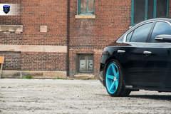 Black Nissan Maxima - Rear Right Wheel
