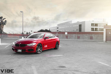 2014 BMW 4 Series | 2014 BMW 435i fitted with Rohana RC7 wheels and lowered on H&R Springs - Left Fender Shot