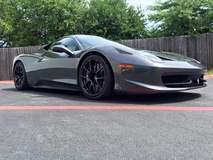Track-Prepped Ferrari 458 Italia on Forgeline One Piece Forged Monoblock GA1R Open Lug Wheels