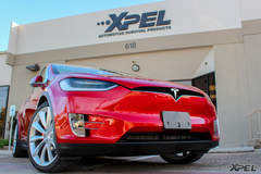 A beautiful Tesla Model X protected with XPEL ULTIMATE
