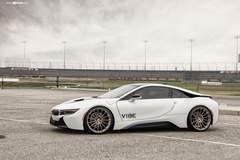 """BMW i8 on 22"""" Avant Garde's - Side Shot"""
