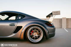 Johnny Le's Porsche Cayman S on Center Locking Forgeline GA3R Wheels