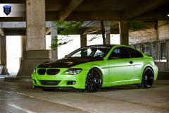 Green BMW 6 Series - Side Spokes