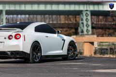 White GTR (Godzilla) - Rear Angled Shot