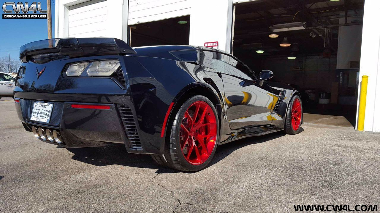 2016 Chevrolet Corvette Z06 | C7 Corvette Z06 on Transparent Red Forgeline One Piece Forged Monoblock VX1 Wheels