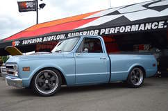 Randy Johnson's D&Z Customs 1968 Chevy C10 Shop Truck on Forgeline Heritage Series CR3 Wheels - Side Profile