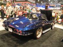 "TBT: Roadster Shop Wins GM Design Award for ""Best Chevy Sports Car"" at the 2015 SEMA Show with Barry B's '64 Corvette on Forgeline RS6 Wheels"