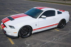 Travis Wiser's 2014 Shelby GT500 on Forgeline One Piece Forged Monoblock GA1R Open Lug Cap Edition Wheels