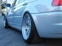 Stanced BMW E46 M3 on Forgeline GA3 Wheels