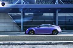 Matte Purple Cadillac CTS-V - Driver Side Shot