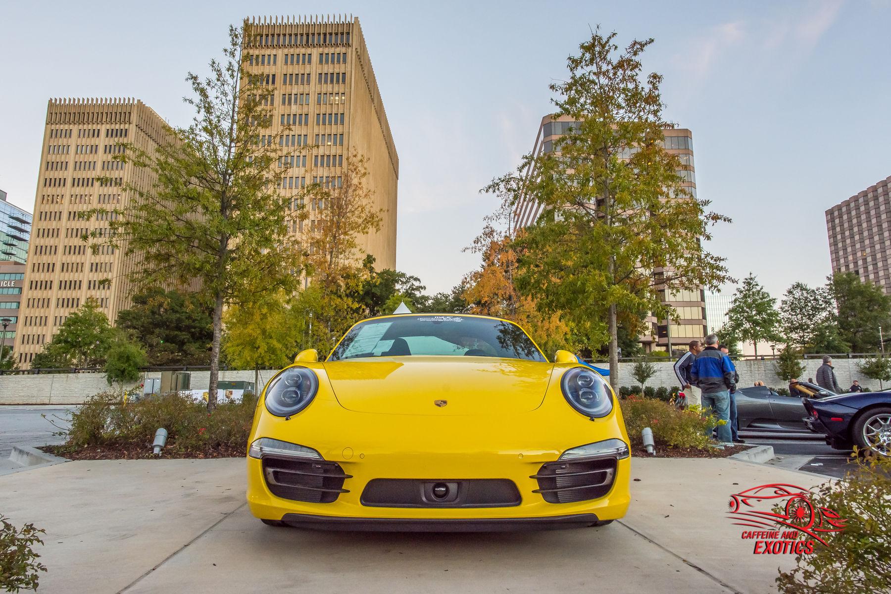 2015 Porsche 911   Yellow Porsche Head-On