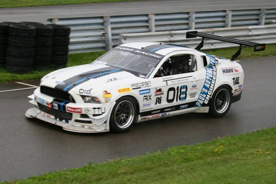 2014 Ford Mustang | Brian Faessler's Turbocharged Boss 302 Mustang GTU-class Racecar on Forgeline ZX3R Wheels at Pittsburgh International Race Complex