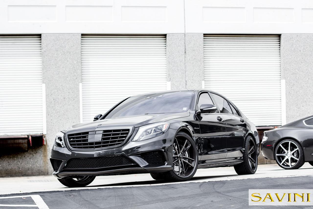 2014 Mercedes-Benz S-Class | 2014 Grey Mercedes-Banz S63 | Savini Wheels SV51-C