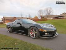 C6 Corvette Z06 on Forgeline One Piece Forged Monoblock CF1 Wheels