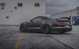 Ansley Stewart's Mustang Shelby GT350R on Forgeline One Piece Forged Monoblock GS1R Wheels