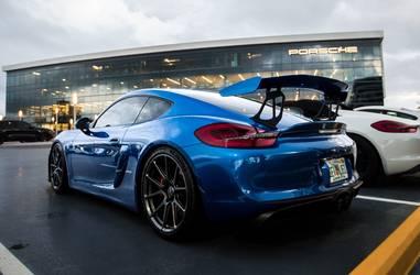 2016 Porsche Cayman   Smokies GT Blue Porsche Cayman GT4 on Forgeline One Piece Forged Monoblock GS1R Wheels