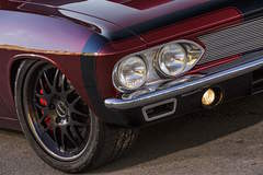 JB Granger's Pro-Touring '66 Chevy Corvair on Forgeline DE3P Wheels