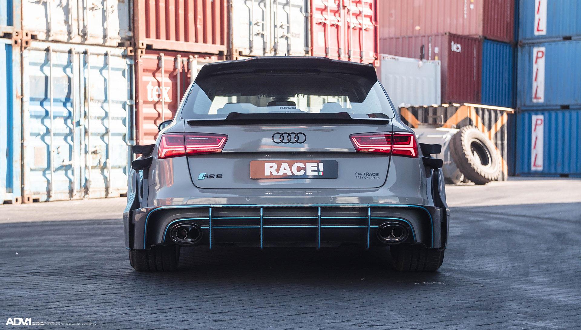 Audi RS 6 | Nardo Gray Carbon Fiber Widebody Audi RS6 Avant - ADV.1 Wheels ADV7R Track Spec CS