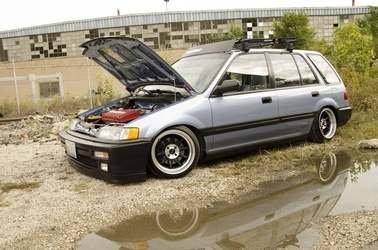 1988 Honda Civic | Ruff Racing R358's on '88 Honda Civic Wagon