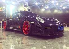 Unlimited Performance China Porsche 997.1 on Forgeline GA1R Open Lug Cap Edition Wheels