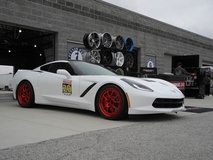 Forgeline's C7 Corvette on Forgeline GA3R Wheels in Transparent Red