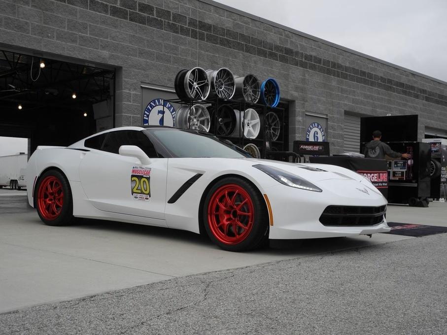 2014 Chevrolet Corvette Stingray | Forgeline's C7 Corvette on Forgeline GA3R Wheels in Transparent Red