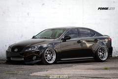 Stew Smith's Hellaflush Lexus IS 350 on Forgeline GA3 Wheels