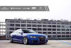 Blue Audi S5 - Lowered